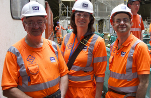 Crossrail tunnelling: Rail Minister Claire Perry MP visits tunnelling machine Ellie, October 2014