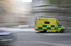 Ambulance driving at high speed