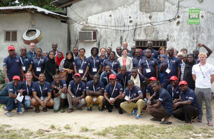 RNLI Candidates with Mrs. Penelope Smith, Deputy British High Commissioner to Tanzania