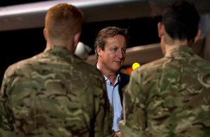 PM meets RAF staff in Cyprus