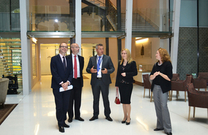 Dominic Jermey, CEO of UK Trade & Investment visited Budapest on 2 October 2014