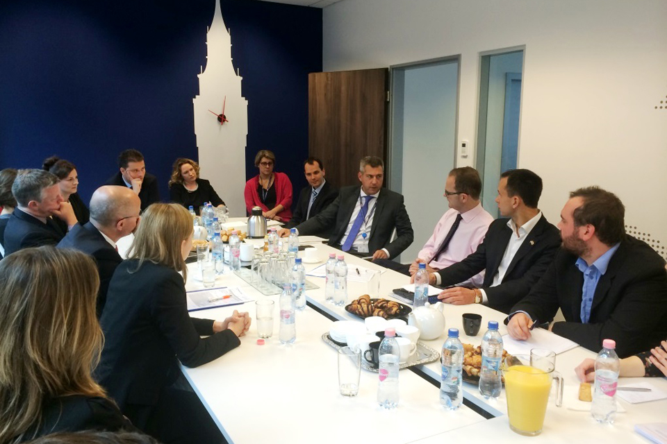 Dominic Jermey met leading Hungarian and British business people, members of the British Chamber of Commerce, the British Business Centre and UK Trade & Investment in Budapest