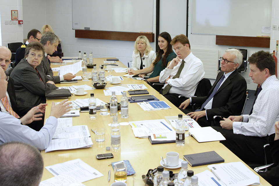 Rt. Hon. Danny Alexander MP, Chief Secretary to the Treasury, discusses the MPLA programme with participants