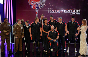 Members of the British armed forces Invictus Games team at the 16th annual Pride of Britain Awards [Picture: John Alevroyiannis, Copyright Mirrordigital]