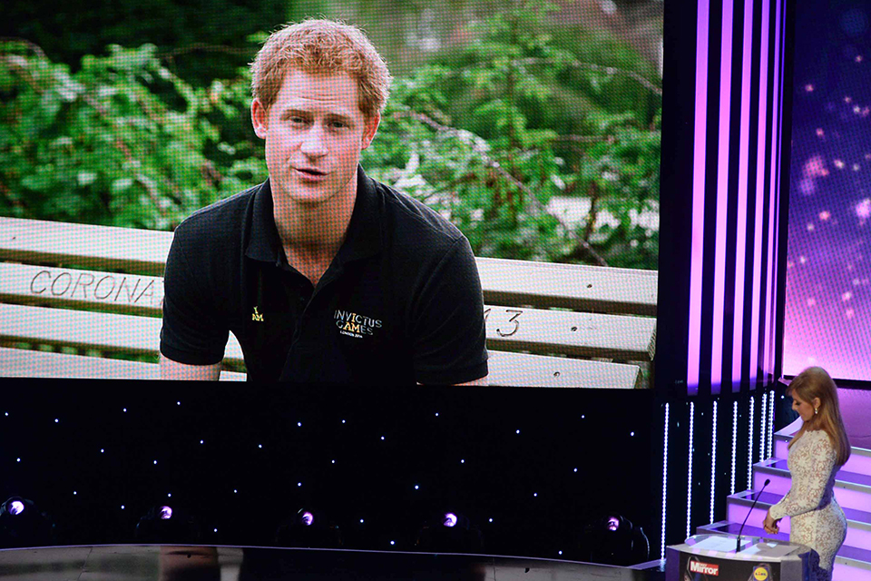 Prince Harry speaking at the Pride of Britain Awards