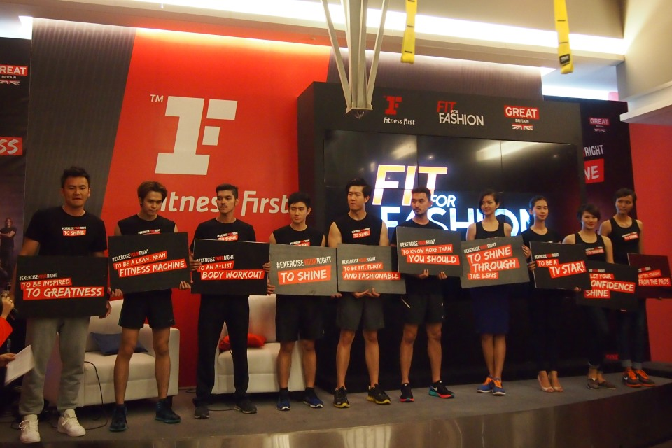 In the show, contestants will use Fitness First's training principles