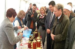 Ambassador Cliff at agricultural fair