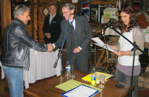 Ambassador Cliff delivers agricultural equipment to Zvecan farmers