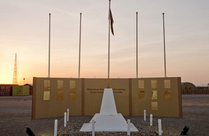 The Camp Bastion memorial wall [Picture: Corporal Daniel Wiepen, Crown copyright]