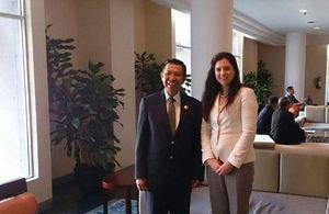Acting British Ambassador Rebecca Razavi and Bali Governor Mr I Made Mangku Pastika