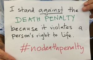 Today is the fourteenth commemoration of The World Day Against the Death Penalty.