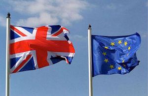 British & EU Flag
