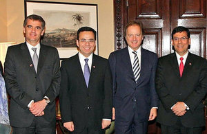 Chilean authorities with Minister Hugo Swire during Chile Day in London.