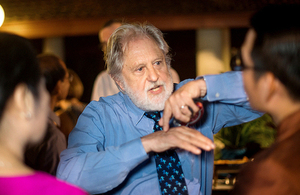 Lord Puttnam at reception