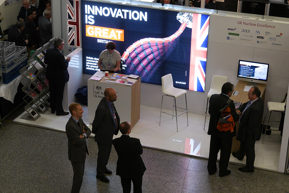 UKTI exhibition stand at the 58th IAEA General Conference