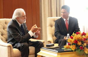 Lord Puttnam and Cambodian Minister of Commerce