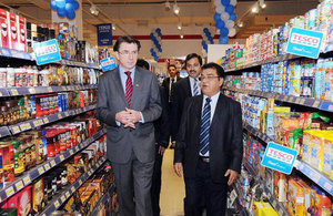 British Ambassador attends the launch of Tesco products in Bahrain