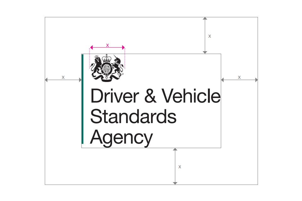 Get permission to use dvsa logos gov dvsa logo exclusion zone spiritdancerdesigns Choice Image