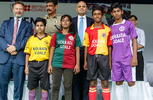 Sajid Javid launching a Kolkata Goalz programme