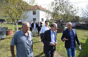 Ambassador Cliff delivers agricultural equipment to farmers in Leposavic and South Mitrovica