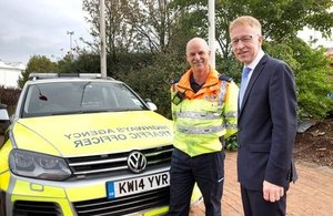 Graham Dalton with a West Midlands Highways Agency Traffic Officer