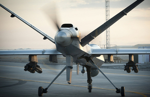 A Royal Air Force Reaper RPAS [Picture: Sergeant Ross Tilly RAF, Crown copyright]