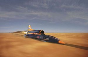 A computer-generated image of the Bloodhound supersonic car [Picture: Siemens]