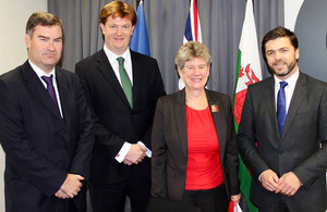 David Gauke MP, Danny Alexander MP, Jane Hutt AM and Stephen Crabb MP