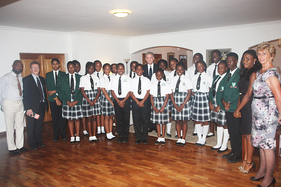 Students of British International School, Lekki, Lagos, who sang at the memorial service for Peter Carter.