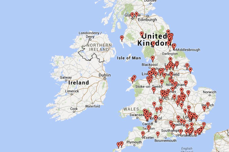 Big Energy Saving Network map