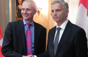 David Lidington, Minister for Europe, met President of the Swiss Confederation, Didier Burkhalter,
