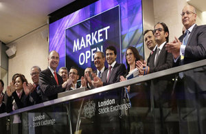 Moroccan delegation at London Stock Exchange