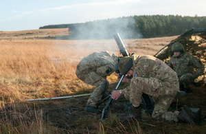 Members of 4th Battalion The Parachute Regiment training with mortars at Otterburn in Northumbria [Picture: Ian Chapman, Crown copyright]