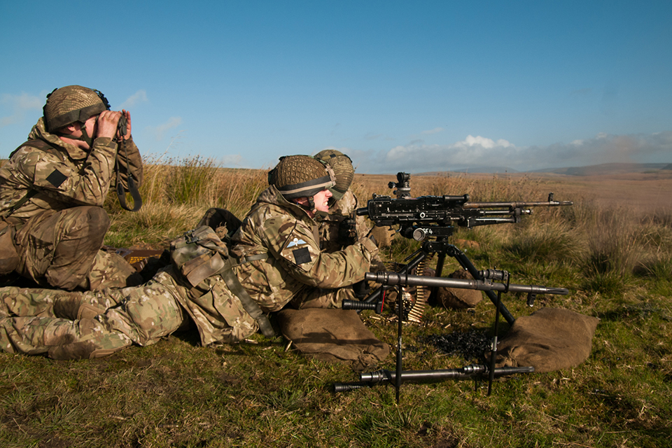 Members of 4th Battalion The Parachute Regiment