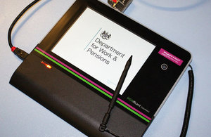 New Jobcentre Plus signing on technology
