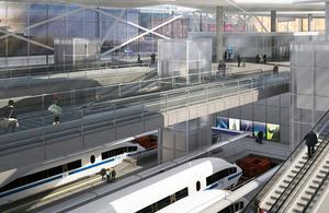 High Speed 2 station interior