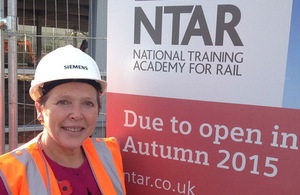 Baroness Kramer at rail training academy