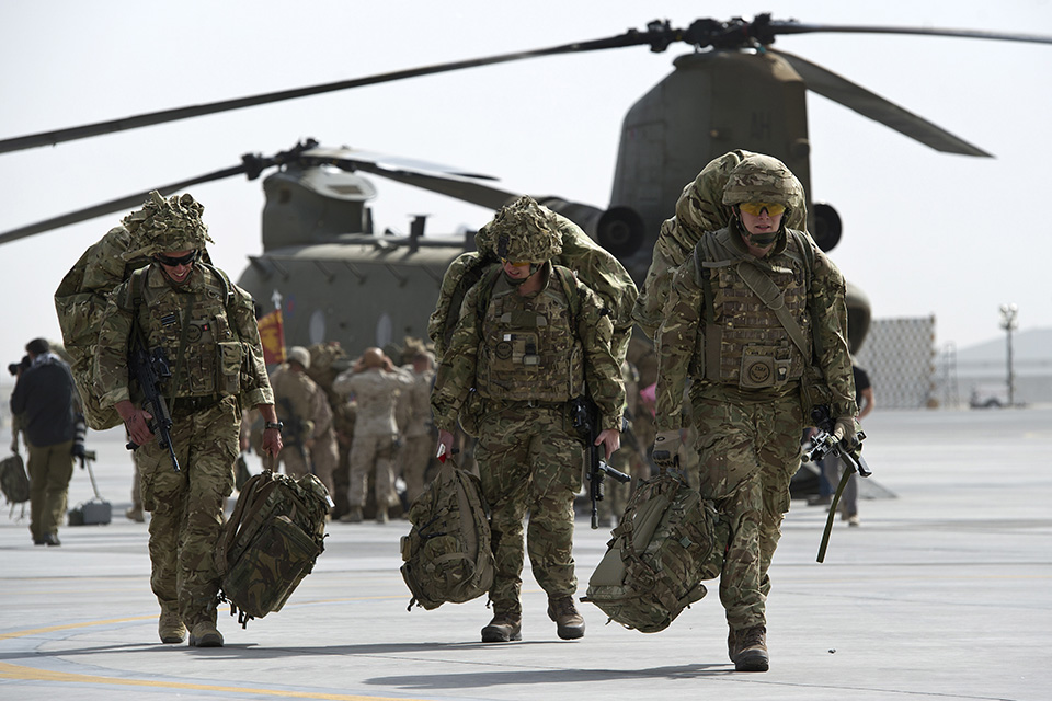 British military personnel at Kandahar Airfield