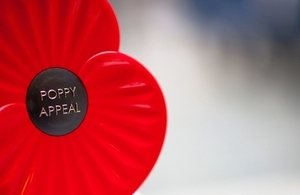 Poppy appeal on behalf of the Royal British Legion