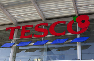 Tesco store with Poppy logo