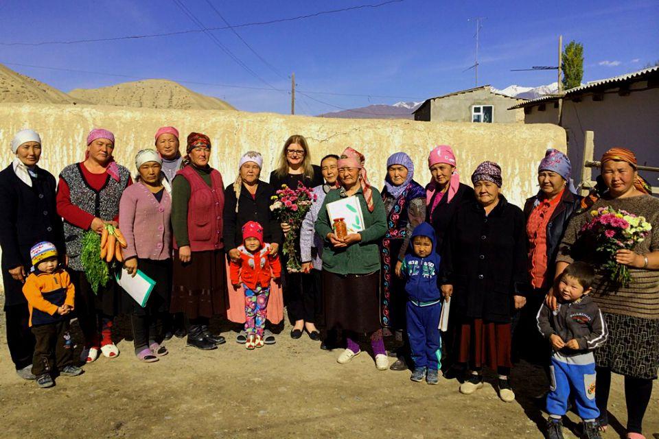 Ambassador with women's self-help groups