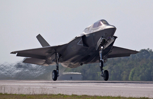 An F-35 Lightning II aircraft at Eglin Air Force Base, Florida [Picture: Sergeant Pete Mobbs RAF, Crown copyright]