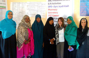 Lynne Featherstone visits the Girls' Club which works to increase awareness of the health impacts of female genital mutilation. Picture: Health Poverty Action