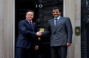 Prime Minister with the Emir of Qatar