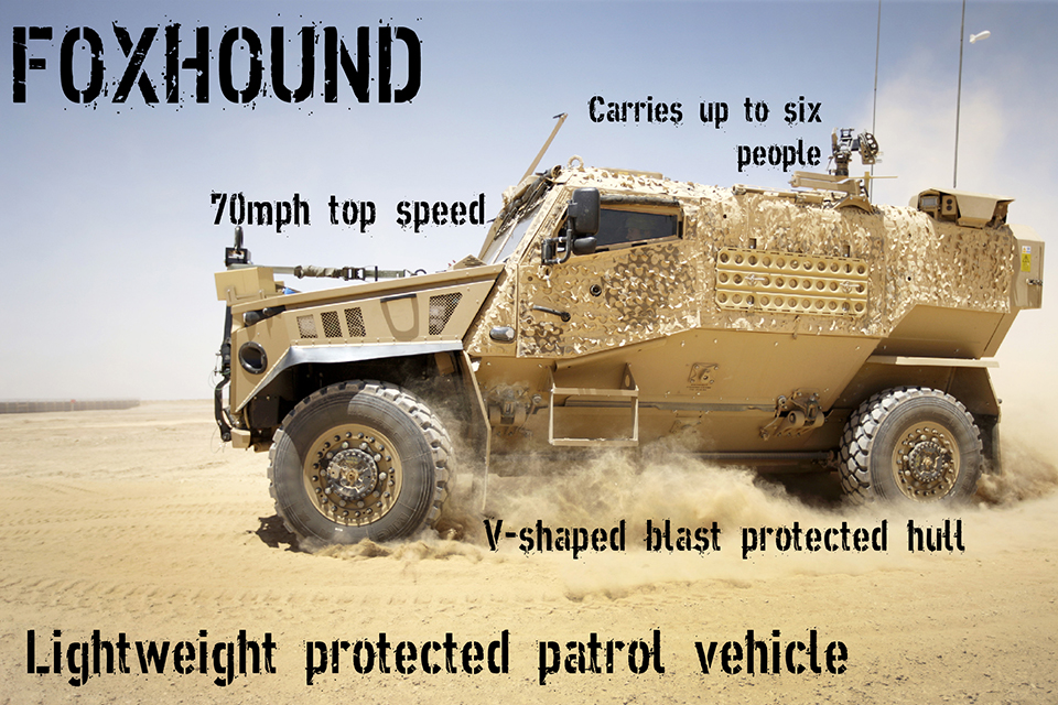 Foxhound vehicle