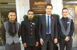 Edward Timpson with young people at Marriott Hotel
