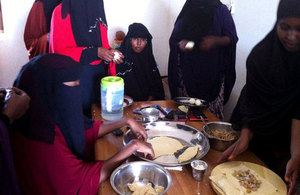 Beneficiaries on the SEED programme learning how to prepare confectionaries and sweets.