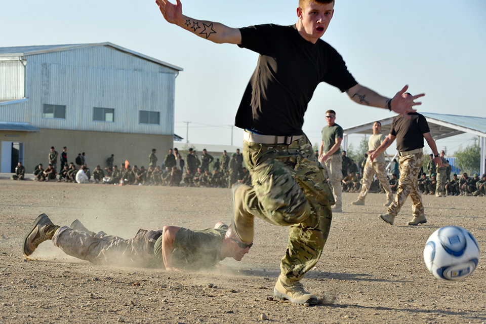 Football tournament in Camp Bastion