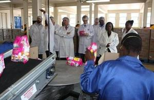 UK trade mission tours Unilever Zimbabwe factory
