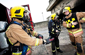 Armed forces personnel carry out fire training back in 2013 [Picture: Crown copyright]